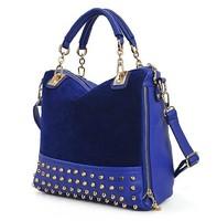 Vintage Rivet Dull polish Women Leather Handbag Messenger bags Bolsas femininas 2014 New Trend Brands Channel bag ZL2496
