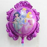 wholesale six princess foil balloon Double-sided magic mirror  helium ballon for girl birthday party decoration princesa