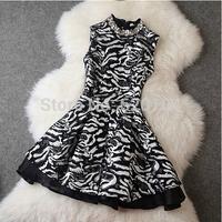 2014 brand new women's autumn fashion wear European top brand fashion slim dress  elegance party dress T2089