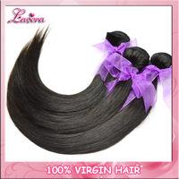 Indian Virgin Hair straight 3PCS 100G Human Hair Weaves Grade 5A Unprocessed Virgin Hair Extension Lavera Hair Products