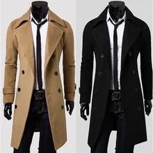 2014 new fashion trench coat men spring long coat suit men wool coat men Overcoat Outerwear casaco masculino F23(China (Mainland))