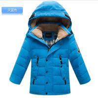 Children down jacket boy cuhk children with thick winter warm hooded jacket WA526