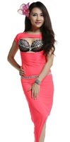 New Arrival Sexy Belly Dance Practice Costume Made Of Spandex  2 Pieces bra and skirt (without waistband)