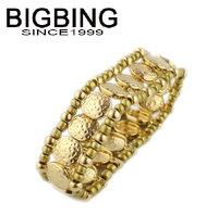 BigBing  jewelry fashion Golden Alloy Stretch Bracelet charm bracelet fashion jewelry nickel free S773