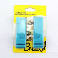 Unique Design Tablet PC / Mobile Phone Universal 3m Sticky Glue Wall Mount Stand Holder Reusable Bracket for Tablets