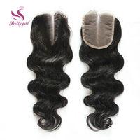 "Brazilian Virgin Hair Closure Body Wave Rosa Hair Products Brazilian Human Hair Free Middle Part Lace Closures 4*4"" 8-20"" Landot"