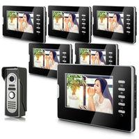"2014 New Top Fashion free Shipping Video Doorphone & 7"" TFT LCD Indoor Monitor & Video Intercom System XSL-V70D-M2"
