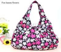 5 Colors for Choice! Sweet Lady Flower Cavas Handbag,Tote Bag,Dumpling Bag Q0022,W/Bow-Knot, Free Shipping
