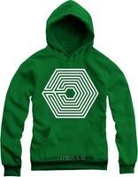 Hot 2014 Autumn Winter EXO Poisoning addictive Han Cotton Hoodies Fashion HipHop Korea Casual Cool Basic Long-Sleeve Sweatshirts
