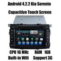 Android Autoradio GPS for Kia Sorento 2009-2012 Auto GPS Navi with A9 dual core/CPU 1G MHz/ RAM 1GB/3G host Free shipping