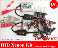 Free Shipping!! HID Xenon Headlight DC 35W with slim ballast H4-1,H4-2,H13-2,9007-2 3000k ... 30000k