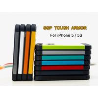 A++ Quality  11 Colors SGP Spigen Tough Armor Hybrid TPU Hard  Cover Cases For iPhone 5 5S 100pcs/lot