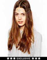 Free Shipping Bohemia butterfly hair band hair bands hair chain new fashion hair jewelry