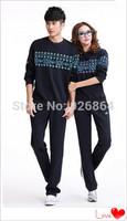 2014 new cotton long-sleeved suit lovers sports suit tracksuits sportswear men lovers female recreational sport sweater men