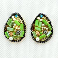 2014 New Korean Fashion Luxury Elegant Crystal Mixed Handmade rhinestone Big Drop Earrings Earrings for Women Jewelry