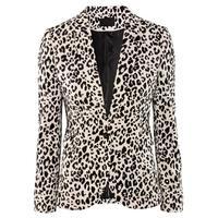 Blazer Women Casual Leopard Work Wear Plus Size Ladies Blazer Spring and Autumn Slim Women Business Suit 9237