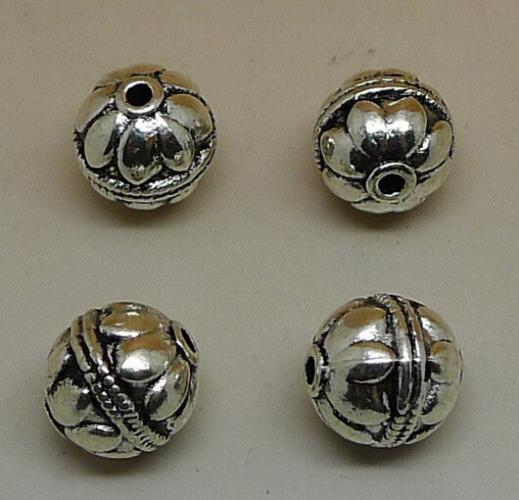 A2910 ball 50pc / bag of 2.63 grams of 9.7x9.4x9.4mm antique silver colour alloy bead jewelry accessories wholesale(China (Mainland))