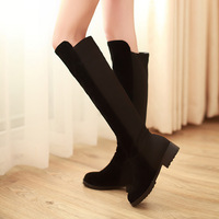 New Arrivel Knee-high Winter Boot,Woman's Fashion Snow Shoe,Color Stitching Suede High Boot,EUR 34-39,Drop Shipping,323