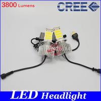 NEW, 18W*2 36W H4 bixenon LED Headlight Conversion Kits H4 high/low beam 3800 Lumens CREE Chip White LED For Car Light HeadLamp