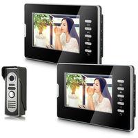 "2014 New Top Fashion free Shipping Video Doorphone & 7"" TFT LCD Indoor Monitor & Video Intercom System XSL-V70D-M2 1VS2"