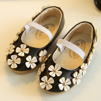 New arrival 2014 fashion girl shoes high quality kids shoes with flower cute children shoes