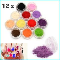 12 Colors Nail Powder Decoration Fuzzy Flocking Velvet For Nail Art Tips