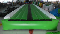 2014 popular inflatable air tumble track wit pum free shipping inflatable air track toy
