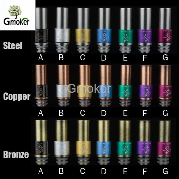 Metal aluminum Laser etching eGo 510 Vapelyfe Drip Tips Stainless Steel Bronze Copper for DCT 510 vivi nova CE4 CE5 MT3(China (Mainland))