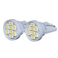 2pcs/lot   T10 W5W 194 168 501 Car White 8 LED 3020 SMD Wedge Side Light Bulb 12V lamp