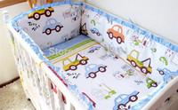 38 Patterns Baby Crib Bumper Set 120*60,120*70cm etc Baby Bedding Set  5Pcs Cotton Baby Set In Cot 7 Sizes For Parents' Choice