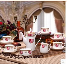 Australian 15 skull porcelain coffee set Afternoon tea set ceramic coffee set of coffee cups and saucers The rain snow flower