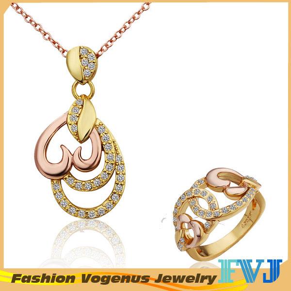 Fashion unique jewelry set love heart shape necklaces&pendants+ring set new wholesale JPS219(China (Mainland))