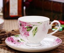 15 head bone syringa high grade bone China coffee set fashion gift set bone porcelain ceramic