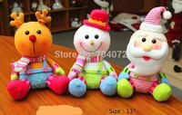 Wholesale-Free shipping HOT! 3pcs/lot  Christmas gift wool christmas tree music Supplies hanging new year santa claus natal