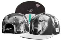 2014 new wolf black/white adjustable baseball snapback hats and caps for men/women sport hip hop fashion street headwear sun cap