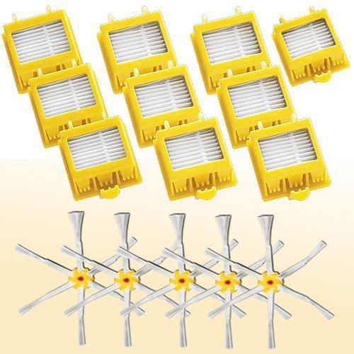 5 X 6 armadas colaterais Brushes + 10 Kit de filtro Hepa para iRobot Roomba 700 Series 760 770 780(China (Mainland))
