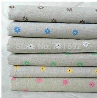 50*155cm ZAKKA cotton fabric loverly printing Little Daisy hemp linen DIY table cloth cushion fabric pillow fabric