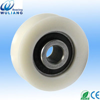 China track roller bearings S688-2RS nylon door roller wheel S688 u groove nylon roller wheel