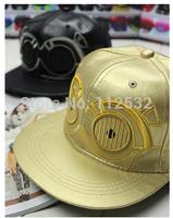 newNew  Star Wars cartoon alien baseball cap for men and women imitation leather flat cap, hip hop caps