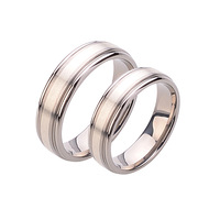 6MM Men's Titanium Ring Wedding Band With 999 Silver Inlaid,  Fashion Women And Men Jewelry TI043R