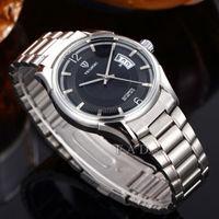business military full steel brand automatic self-wind relogios masculino watch mechanical fashion calendar watch clock