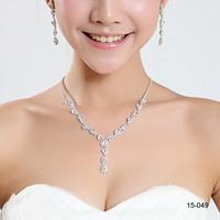 2014 silver wedding jewelry sets for brides wedding accessories bride jewelry set Rhinestone wedding jewelry sets bridal 15049