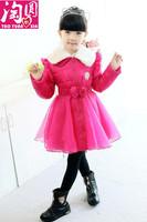 Balabala 5 6 7 8 9 10 12 14 girls clothing outerwear gauze princess fur collar down coat
