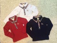Retail New Brand Baby&Boy's autumn casual cotton T-shirt/Children's stitching long sleeve Turn-down Collar clothing+free shipp