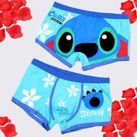 1pcs 100% Cotton concise cosy Sexy underwear man Boxer / Lovers underwear cartoon couple Men's women Underwear