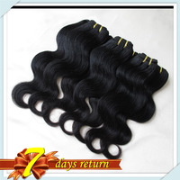 Top New  Peruvian Body Wave Super Soft Human Hair Extensions 60g/pc Factory Outlet Price 6 pcs/lot Color #1B Free DHL Shipping