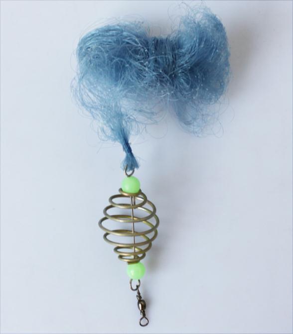 Hot Selling 2014 New Design Copper Spring Shoal Fishing Net Netting Luminous beads Swivel(China (Mainland))