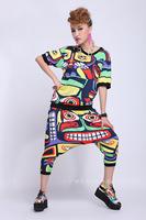 2014 summer women's short-sleeve maya suit trend-setters streetwear suit