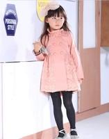 2014 New Brand Girls Winter Coat Baby Clothing Sweet Child Pink Girls Coat Spring and Autumn Kids Girl Jacket Children Outerwear