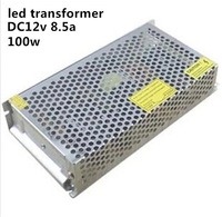 wholesale led driver 100W AC110/220V to DC12V 8.5A led lighting transformer for strip light power supply unit free shipping